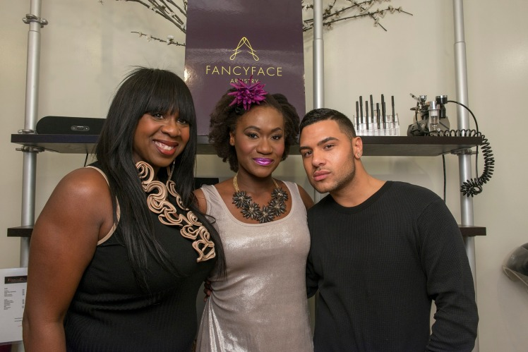 Tanya (owner) with Juliet and Ricky the make up artist.
